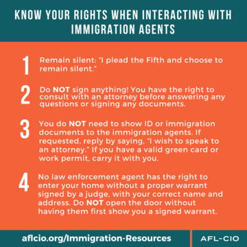 Know Your Rights – from the AFL-CIO