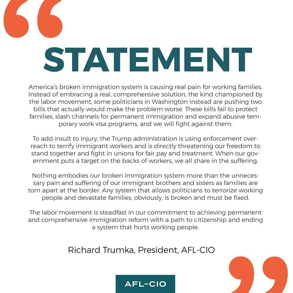 Trumka/AFL-CIO on immigration