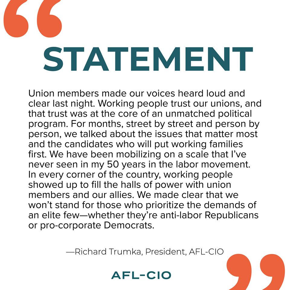 AFL-CIO Prez Trumka on the Midterms …