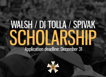 Walsh/Di Tolla/Spivak Scholarship now open