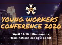 APPLICATION FOR '20 YOUNG WORKERS CONFERENCE
