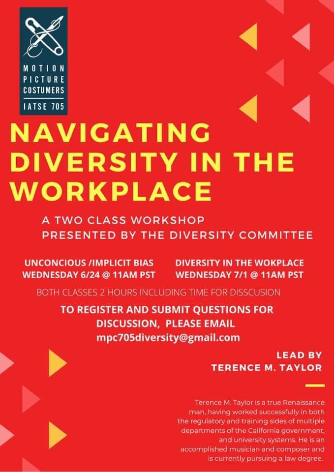 """Webinar:  """"Diversity in the Workplace"""" – 7/1/20"""