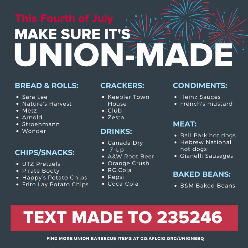 Make sure it's union made!