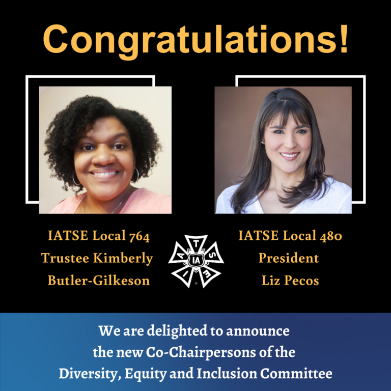 IATSE's Diversity, Equity, and Inclusion Committee Hold Elections for New Executive Committee
