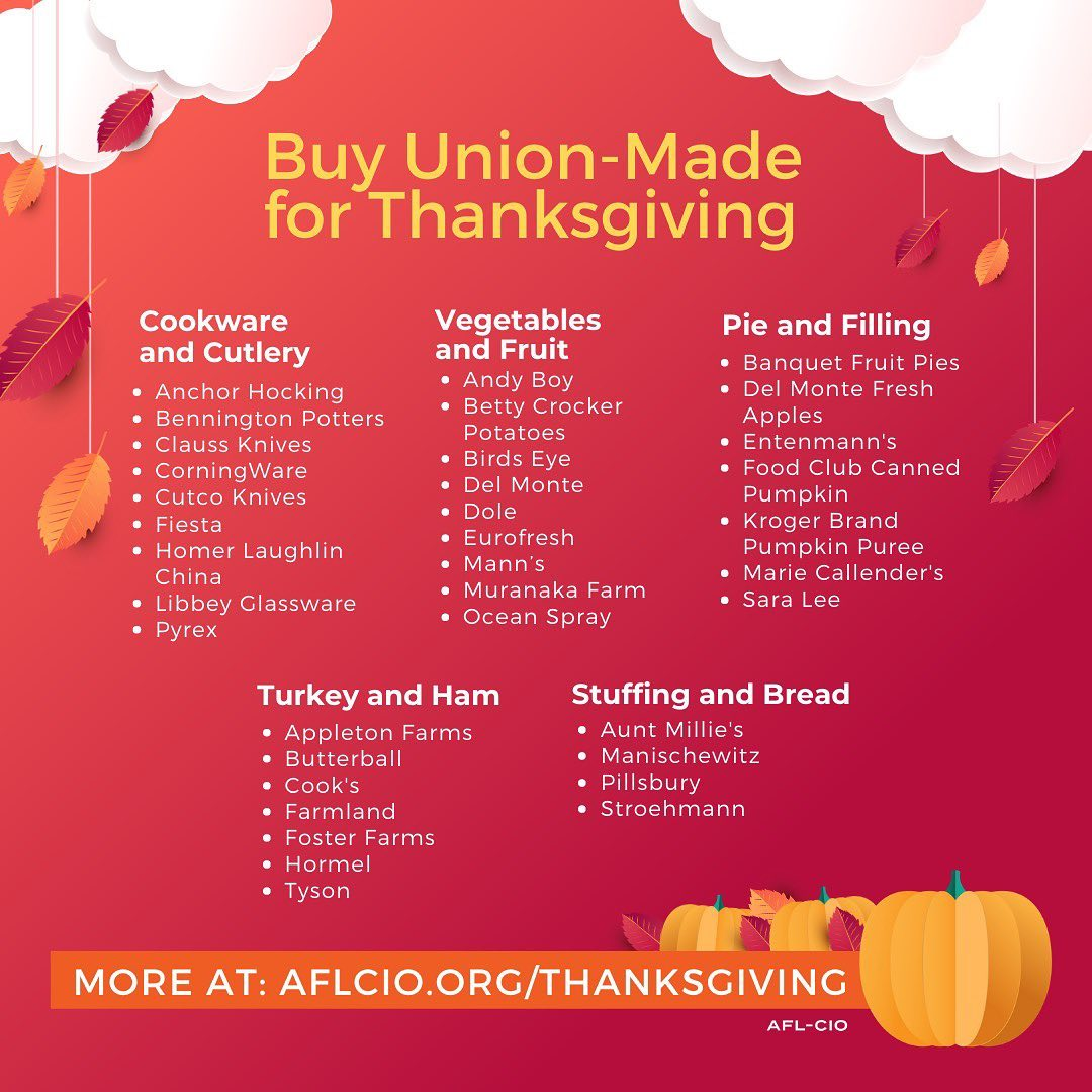 Make your Thanksgiving UNION MADE!